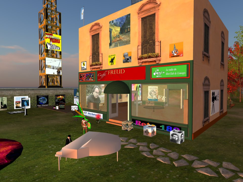 Caffe Freud a Enclave in Second Life