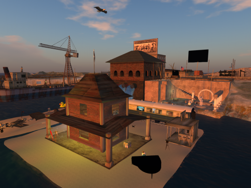 ArteMente Station, in Second Life, a small parcel in the historical, wonderful Calleta's sim